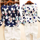 Fashion Women Ladies cotton T Shirt Floral Print Long Sleeve Blouse Casual Tops