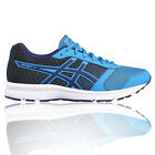 Asics Patriot 8 Mens Blue Cushioned Running Road Training Shoes Trainers Pumps