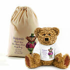Personalised Teddy Bear In A Bag Wedding Favour Page Boy, Flower Girl,Bridesmaid