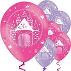 PRINCESS PALACE BALLOONS - Various amounts Pink & purple  GIRLS CHILDREN'S PARTY