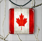 FLAG CANADA COUNTRY PENDANT NECKLACE 3 SIZES CHOICE -fht5Z