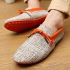 Men's lace up loafers Breathable casual Shoes round toe flat loafer drivng shoes