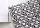 Baby sheep grey Ready quilted Fabric 100% cotton Pre-quilted padded (fQ270)