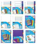 A4 MULTI-PUNCHED FILE DIVIDERS SUBJECT NUMBERS MONTHS PERSONALISED VARIOUS TYPES