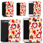 hard durable case cover for iphone & other mobile phones - red multi heart