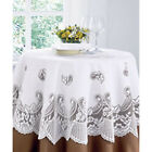 VICTORIA LACE high quality round & Square tablecloth White - NOW £3.37 TO CLEAR