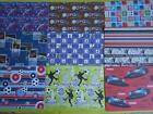 MENS GIFT WRAPPING PAPER - 3 SHEETS of paper - BOYS, football, cars & more MALE