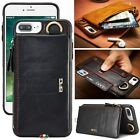 New Wallet Bag Removable Zipper Genuine Leather Case Cover For iPhone 6 6S Plus