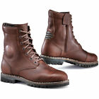 TCX HERO WP Brown VINTAGE STYLE CE CERTIFIED SHORT MOTORCYCLE BOOTS