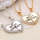 "Fashion jewelry charm ""best friend"" heart shaped pendant friendship necklace"
