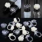 50Pcs Nail Flower Open Ring Manicure Nail Art Polish Display Practice Tool US