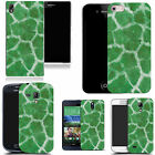 hard durable case cover for most mobile phones - green cheetah print