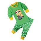 """Minions ""Boys Toddler Kids Pajamas Sleepwear Long sleeve Pyjamas Costume Set"