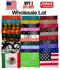 WHOLESALE LOT COTTON PAISLEY PRINT DESIGNS SCARF BANDANA HANDKERCHIEF HEAD WRAP