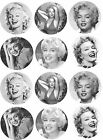 "1.5"" Precut Icing Cupcake Toppers Marilyn Monroe Film Star 12 or 24"