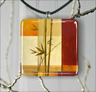 BAMBOO TROPICAL PLANT #2 PENDANT NECKLACE 3 SIZES CHOICE -gbr5Z