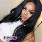 "Silky Natural Straight 12""-22"" 100% Indian Remy Human Hair Lace Front/Full Wig"