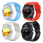 """1.22"""" Round Smart Bluetooth Watch Pedometer Sim Card Camera for Android Samsung"""