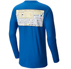 Columbia Men's Men's PFG Periodic Chart Long Sleeve Tee Shirt Vivid Blue