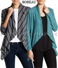 NEW WOMEN'S COLLECTION BY BOBEAU ONE BUTTON ASYMMETRICAL WRAP CARDIGAN VARIETY!
