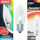 Energizer 28w 48w Edison Screw ES E27 Halogen Energy Saving Candle Light Bulb