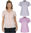 Regatta Jenna Ladies womens Summer lightweight coolweave cotton checked shirt US