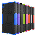 Hybrid Armor Shockproof Dual Layer Kickstand Protective Case for Sony Xperia E5