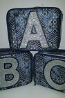 Justice for Girls Denim Wash Aztec Initial Insulated Lunch Box Tote Bag