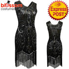 K340 1920s Flapper Dress Great Gatsby Charleston 20s Abbey Sequins Fancy Costume