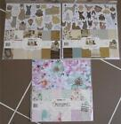 """U Choose} Paper Packs + Stickers 12""""x12"""" ~ Pawfect Dog & Cat ~ OR ~ Wildflower ~"""