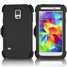 Samsung Galaxy S5 Defender Case Cover Heavy duty [Clip fits Otterbox]