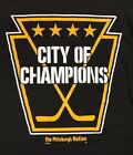 The Pittsburgh Nation Hockey City of Champions T-Shirt Black & Gold