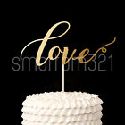 Gold LOVE Cake Topper Decoration Wedding Photo Prop Anniversary Engagement