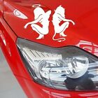 2 Packs of Black or White Sexy Angel and Devil Car Decal Stickers Stylish Decor