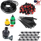 DIY Micro Drip Irrigation System Plant Self Watering Outdoor Garden Hose Kits US