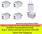3.1 Dual Port 2A USB Home Travel AC Wall Charger Adapter For Mobile Devices