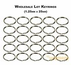 "Split Key Rings 1"" Keychain Key Holder Locksmith (1.25mm x 25mm) Wholesale Lots"