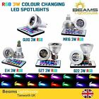 E27/GU10/B22/MR16/E14 3W 16 COLOR CHANGING DIMMABLE RGB LED SPOT LIGHT BULB LAMP