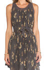 FREE PEOPLE Pleated Tent Dress Mocha New with Tags $148 XS S M L