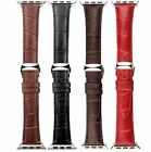 New Leather Buckle Band Strap Belt+Adapter For iphone iWatch Apple Watch 38 42mm