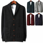 Mens Stylish Dandy Casual Shawl Cardigan Sweater Jumper Blazer Jacket Top E051 S