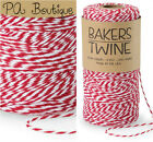 Cherry Red & White Duo 4-ply 100% Cotton Baker's Twine *Your Choice of Length*