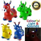 Kids Talking Animal Space Hopper Inflatable Rubber Toy Ride On Jump n Bounce COW