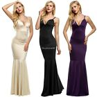 backless dresses uk - Women Strap V Neck Backless sleeveless Bodycon Fill-length Dress fullgown EHE8