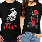 Her Joker His Harley Halloween couple matching funny cute T-Shirts all sizeS-4XL image