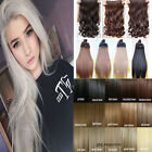 """UK 100% Human Made Clip In Hair Extensions Curly Straight Wavy 17-30"""" Brown Blac"""