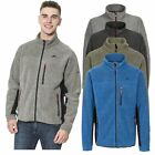 Trespass Jynx Mens Heavyweight Fleece Jacket Full Zip in Green Blue Black