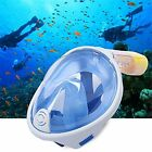 180° Full Face View Snorkel Mask Anti-Fog No Leak Kids Adult Smart Technology