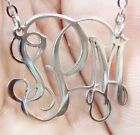 Custom Stainless Steel Monogram Necklace With Your Initials Handmade