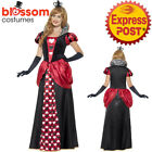 CA195 Royal Red Queen of Hearts Alice Book Week Costume Fancy Dress Gown Outfit